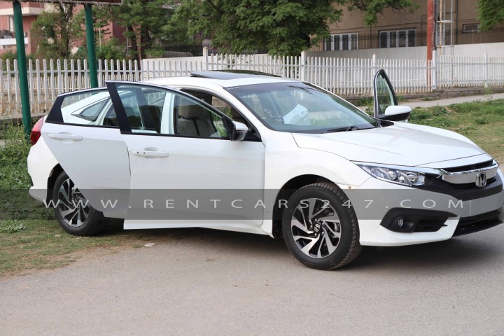 Honda Civic 2017 Car Available For Self Driven Car Rentals In Pakistan